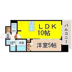 名古屋市営名城線 矢場町駅 徒歩7分の賃貸マンション 3階1LDKの間取り