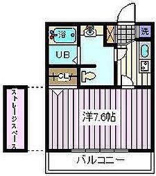 埼玉県戸田市大字新曽の賃貸アパートの間取り