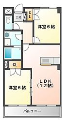 リーガル桜島[5階]の間取り