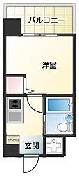 沖縄都市モノレール 旭橋駅 徒歩11分の賃貸マンション 5階1Kの間取り