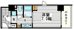 エステムコート心斎橋EASTエリジオン[5階]の間取り