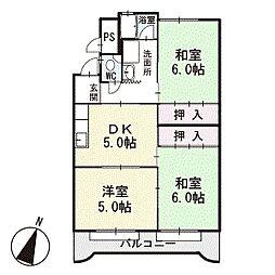 マンション光 3階[C3号室]の間取り
