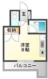 サクセス江坂[4階]の間取り