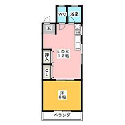 コーポ西高蔵[2階]の間取り
