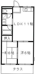ドミール88[1階]の間取り