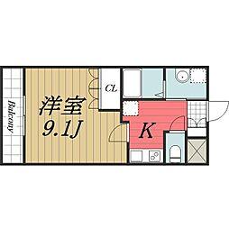 千葉県香取市佐原ホの賃貸マンションの間取り