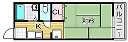 サンシティ西田[2階]の間取り