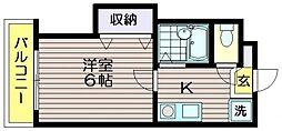 クレッセント柴崎[103号室]の間取り
