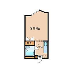 奈良県奈良市南京終町3丁目の賃貸マンションの間取り