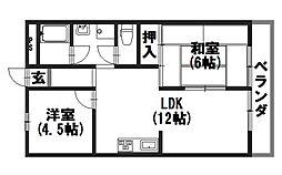 ビラキヨシ[105号室]の間取り