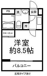 OTO[201号室]の間取り