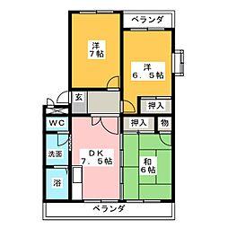 平松マンションII[3階]の間取り