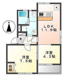 富士見台コープ[2階]の間取り