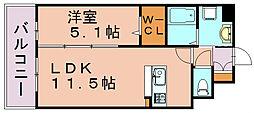 福岡県福岡市博多区東那珂3丁目の賃貸マンションの間取り