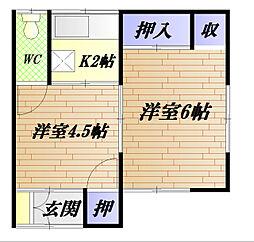西村アパート[101号室]の間取り