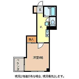ベルメッソさんぽ館[4階]の間取り