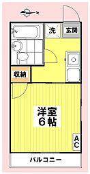 シティハイムMIZUKOU[201号室]の間取り