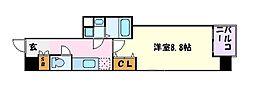 名古屋市営東山線 池下駅 徒歩2分の賃貸マンション 5階1Kの間取り