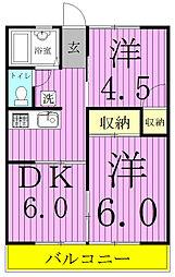 花嶋ハイツA[103号室]の間取り