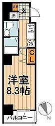 JR京浜東北・根岸線 神田駅 徒歩9分の賃貸マンション 5階1Kの間取り
