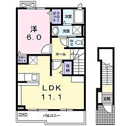 ブランカーサ[2階]の間取り