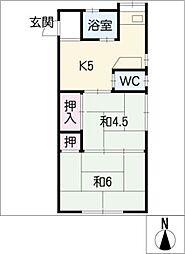 芳雅荘[1階]の間取り
