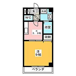 グレイス第8マンション[7階]の間取り