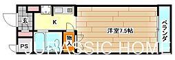 大阪府堺市中区土師町1丁の賃貸マンションの間取り