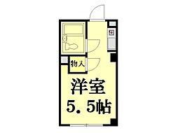 鶴見トミーハウス[105号室]の間取り