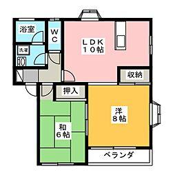 メゾンファイブA[2階]の間取り