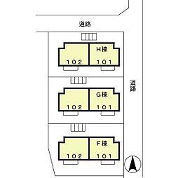 グリーンヴィレッジ FGH[H101号室]の外観