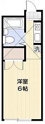 神奈川県相模原市中央区並木3丁目の賃貸アパートの間取り