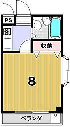 ハイム三木[201号室]の間取り