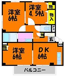 さくらマンションA[1階]の間取り