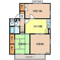 コーポ新稜B棟[2階]の間取り