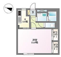 プラチナメープル[1階]の間取り