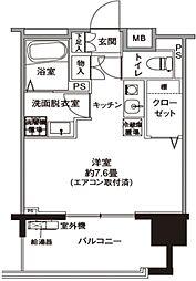 JR横浜線 十日市場駅 徒歩7分の賃貸マンション 3階1Kの間取り