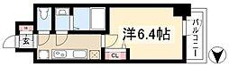 アステリ鶴舞ディオ 2階1Kの間取り
