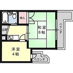 メゾンジェルミナール[4階]の間取り