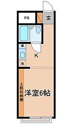 メゾン・ドゥ・マキ[2階]の間取り