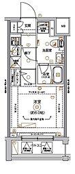 Le'a横濱アヴニール 3階1Kの間取り