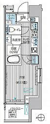 ヒューリックレジデンス新御茶ノ水 7階1Kの間取り