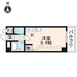 阪急京都本線 京都河原町駅 徒歩6分の賃貸アパート 5階ワンルームの間取り