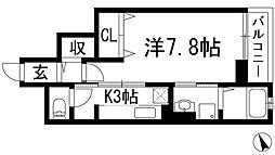 プリムヴェール[3階]の間取り