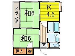 樋ノ爪コーポ[2階]の間取り