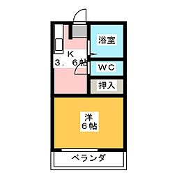 フレグランスエイト[2階]の間取り