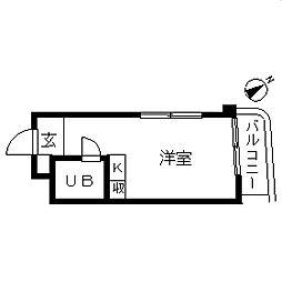 TOP・西谷第1[0401号室]の間取り