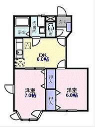 シティアサヒ2[2階]の間取り