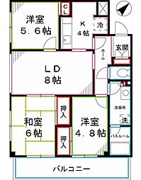 チェリーコート武蔵小金井[6階]の間取り