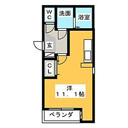 Leciel桜本町II[3階]の間取り